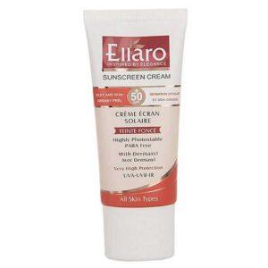 کرم ضد آفتاب SPF50 مناسب انواع پوست-بژ طبیعی الارو 50 میل