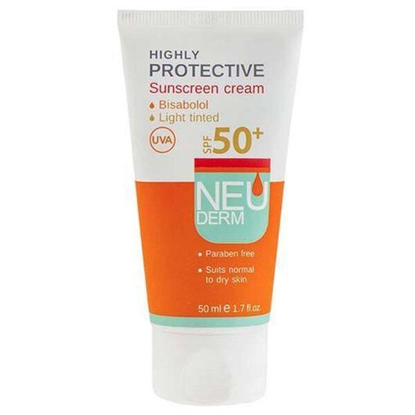 ضد آفتاب SPF50 بژ روشن نئودرم