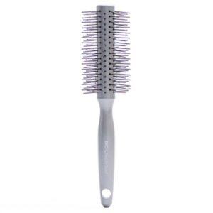 برس مو آی استایل بیوتی تولز خاکستری گرد متوسط سوزن های پلاستیکی آنتی استاتیک بیول