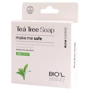 صابون پاک کننده صورت تی تری ضد آکنه مناسب پوست چرب بیول 100 گرم