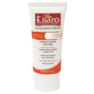 کرم ضد آفتاب SPF50 بدون رنگ مناسب انواع پوست الارو 50 میل