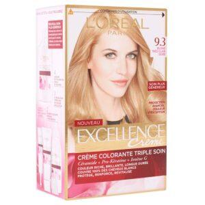 کیت رنگ مو مدل Excellence شماره 9.3 لورال 50 میل