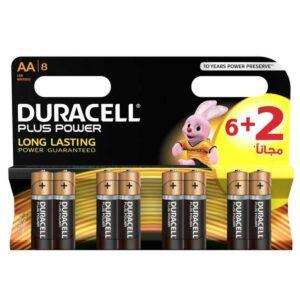 باتری قلمی مدل Plus Power بسته 6 + 2 عددی دوراسل