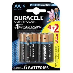 باتری قلمی مدل Ultra Power بسته 2 + 4 عددی دوراسل