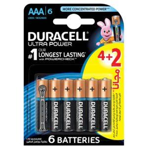 باتری نیم قلمی مدل Ultra Power بسته 2 + 4 عددی دوراسل