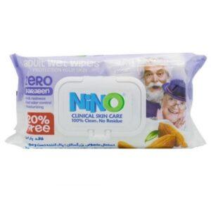 دستمال مرطوب دست وصورت بزرگسالان نینو