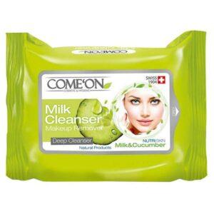 دستمال مرطوب شیر پاک کن کامان